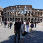 John and Christine by the Colosseum