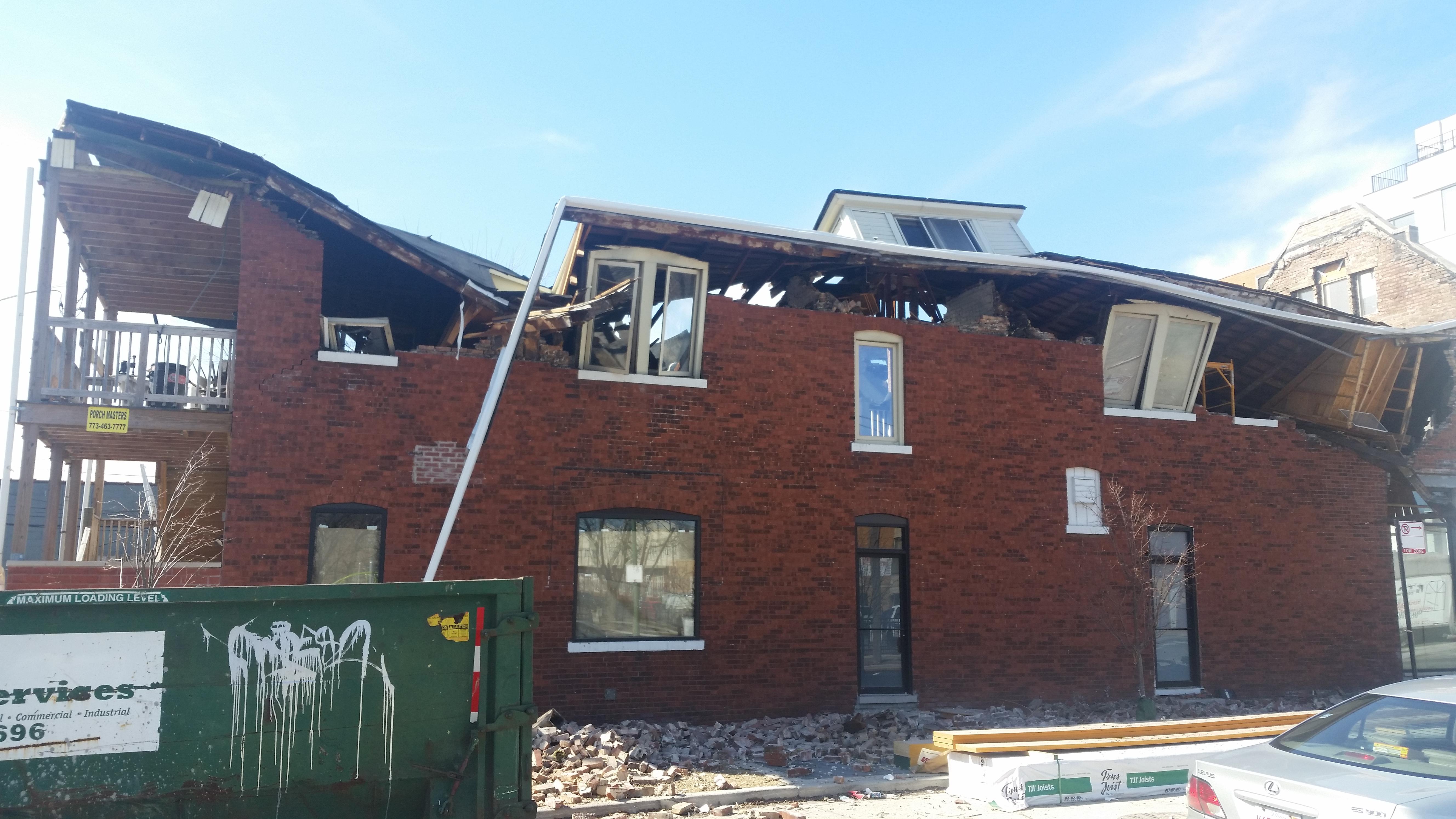 Jefferson Park collapsed building