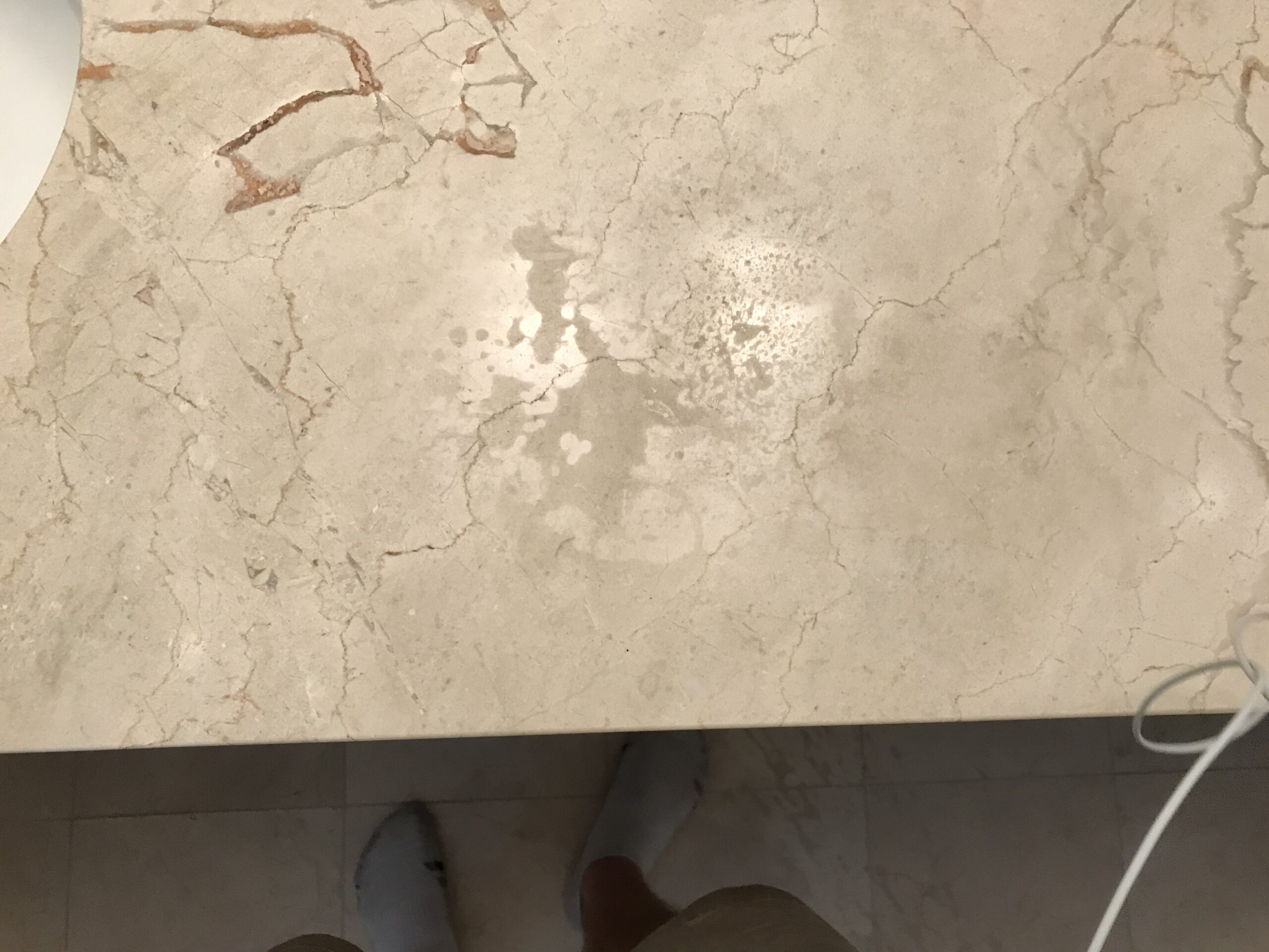 Etched Marble Top